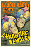 """Movie Posters:Comedy, A-Haunting We Will Go (20th Century Fox, 1942). Very Fine- on Linen. One Sheet (27.5"""" X 41"""").. ..."""
