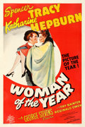 """Movie Posters:Comedy, Woman of the Year (MGM, 1942). Fine/Very Fine on Linen. One Sheet (27.5"""" X 41"""") Style D.. ..."""