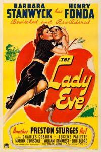 """The Lady Eve (Paramount, 1941). Fine/Very Fine on Linen. One Sheet (27"""" X 41"""")"""