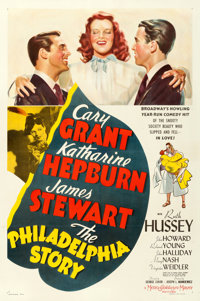 "The Philadelphia Story (MGM, 1940). Very Fine- on Linen. One Sheet (27.25"" X 41"") Style C"