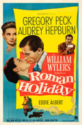 Movie Posters:Romance, Roman Holiday (Paramount, 1953). Very Fine- on Linen.