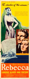 "Movie Posters:Hitchcock, Rebecca (United Artists, 1940). Folded, Very Fine-. Insert (14"" X 36"").. ..."