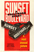 "Movie Posters:Film Noir, Sunset Boulevard (Paramount, 1950). Very Fine- on Linen. One Sheet (27"" X 41"") Style B.. ..."