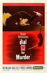 """Dial M for Murder (Warner Bros., 1954). Very Fine on Linen. One Sheet (27"""" X 41.75"""")"""
