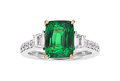 Estate Jewelry:Rings, Tsavorite Garnet, Diamond, White Gold Ring. ...