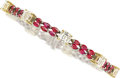 Estate Jewelry:Bracelets, Diamond, Ruby, Platinum, Gold Bracelet. ...