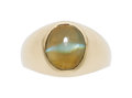 Estate Jewelry:Rings, Cat's-Eye Chrysoberyl, Gold Ring. ...