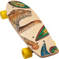 "Luxury Accessories:Home, Hermès Savana Dance Wood Long Board Skateboard. Condition: 1. 7"" Width x 24"" Length x 4"" Height. ..."