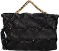"""Luxury Accessories:Bags, Chanel Black Starburst Quilted Lambskin Leather Tote Bag. Condition: 2. 16"""" Width x 11"""" Height x 8"""" Depth. ..."""