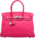 Luxury Accessories:Bags, Hermès Limited Edition 30cm Rose Tyrien & Tosca Epsom Leather Candy Birkin Bag with Palladium Hardware. O Square, 2011. ...
