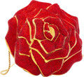 "Luxury Accessories:Bags, Judith Leiber Red Crystal Rose Minaudiere. Condition: 1. 4"" Width x 4"" Height x 4"" Depth. ..."