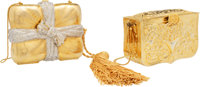 Judith Leiber Set of Two: Gold Minaudieres Condition: 2 See Extended Condition for Sizes ... (Total: 2 Items)