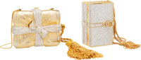 Judith Leiber Set of Two: Gift Box & Book Stack Minaudieres Condition: 1 See Extended Condition R