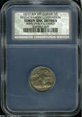 1837 1C Feuchtwanger Cent AU50 Details, Improperly Cleaned, NCS. HT-268, Breen 6-I, R.1. Well detailed with moderate wea...