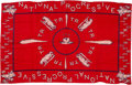 Political:Textile Display (1896-present), Theodore Roosevelt: 1912 Silk Bandana with Bull Moose Part...