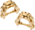 Estate Jewelry:Cufflinks, Gold Cuff Links, Cartier. ...