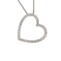 Estate Jewelry:Pendants and Lockets, Diamond, White Gold Pendant-Necklace . ...