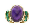 Estate Jewelry:Rings, Amethyst, Emerald, Gold Ring, Lagos. ...