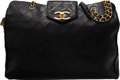 Luxury Accessories:Bags, Chanel Black Quilted Lambskin Leather Oversized Weekender ...
