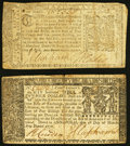 Colonial Notes:Maryland, Maryland March 1, 1770 $4 VF;. Maryland April 10, 1774 $1/6 Fine-VF.. ... (Total: 2 notes)