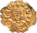 Ancients:Byzantine, Ancients: Theophilus (AD 829-842). AV semissis (14mm, 1.64 gm, 5h). NGC MS★ 5/5 - 5/5....