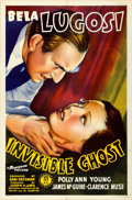 "Movie Posters:Horror, Invisible Ghost (Monogram, 1941). Folded, Very Fine. One Sheet (27"" X 41"").. ..."