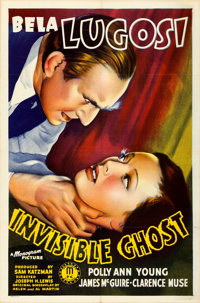 """Invisible Ghost (Monogram, 1941). Folded, Very Fine. One Sheet (27"""" X 41"""")"""