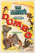 "Movie Posters:Animation, Dumbo (RKO, 1941). Fine+ on Linen. One Sheet (27"" X 41"") Style B.. ..."