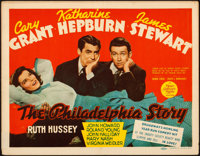 "The Philadelphia Story (MGM, 1940). Fine/Very Fine. Title Lobby Card (11"" X 14"")"