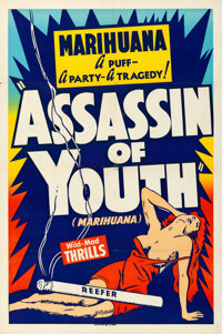 "Assassin of Youth (Roadshow, 1937). Folded, Very Fine. Silk Screen One Sheet (28"" X 42.5"")"