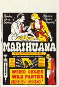 "Movie Posters:Exploitation, Marihuana (Roadshow Attractions, 1936). Folded, Very Fine. One Sheet (28"" X 41"").. ..."
