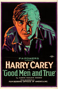 "Movie Posters:Western, Good Men and True (FBO, 1922). Folded, Fine/Very Fine. One Sheet (26.75"" X 40.75"") Style B.. ..."