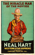 Movie Posters:Western, Neal Hart (Capital Film Co., c. 1920). Folded, Fine/Very F...