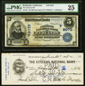 National Bank Notes:California, Redlands, CA - $5 1902 Date Back Fr. 591 The Citizens NB Ch. # (P)8073 PMG Very Fine 25.. ... (Total: 2 items)