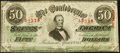 Confederate Notes:1863 Issues, T57 $50 1863 Extremely Fine.. ...