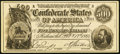 Confederate Notes:1864 Issues, Facsimile T64 $500 1864 Advertising Note About Uncirculated.. ...