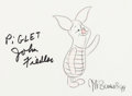 Animation Art:Production Drawing, Walt Disney World Millennium Celebration Piglet Limited Edition Drawing #1 of 80 Signed (Walt Disney, 1998). ...