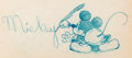 Animation Art:Concept Art, Rare Mickey Mouse Studio Promo Drawing Original Art (Walt Disney, c. 1930s)....