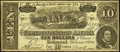 Confederate Notes:1864 Issues, Facsimile T68 $10 1864 Advertising Note About Uncirculated.. ...