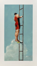 Prints & Multiples:Contemporary, Eric Zener (b. 1966). Man Rising Up, 2009. Monotype in colors on wove paper. 42-1/4 x 23-3/4 inches (107.3 x 60.3 cm) (s...