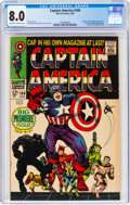Silver Age (1956-1969):Superhero, Captain America #100 (Marvel, 1968) CGC VF 8.0 Off-white to white pages....