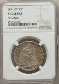 1871-CC 50C -- Cleaned -- NGC Details. XF. NGC Census: (5/12). PCGS Population: (19/49). CDN: $2,500 Whsle. Bid for prob...