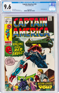 Captain America #129 (Marvel, 1970) CGC NM+ 9.6 Off-white to white pages