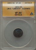 Early Half Dimes: , 1800 H10C -- Cleaned -- ANACS. VF Details. CDN: $2,100 Whsle. Bidfor problem-free NGC/PCGS VF20. Mintage 40,000. ...