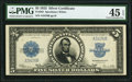 Large Size:Silver Certificates, Fr. 282 $5 1923 Silver Certificate PMG Choice Extremely Fine 45 EPQ.. ...