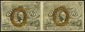 Fractional Currency:Second Issue, Fr. 1246 10¢ Second Issue Horizontal Pair About New.. ...