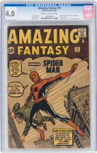 Amazing Fantasy #15 (Marvel, 1962) CGC VG 4.0 Cream to off-white pages
