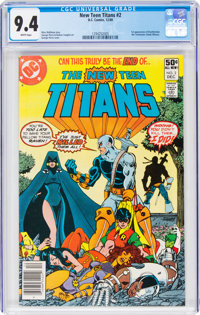 New Teen Titans #2 (DC, 1980) CGC NM 9.4 White pages