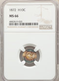 1872 H10C MS66 NGC. NGC Census: (12/4). PCGS Population: (13/2). CDN: $1,250 Whsle. Bid for problem-free NGC/PCGS MS66...