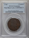 Colonials, 1787 CONNCT Connecticut Copper, Mailed Bust Left PCGS....
